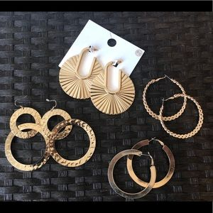 Jewelry - Large Gold hoop earrings